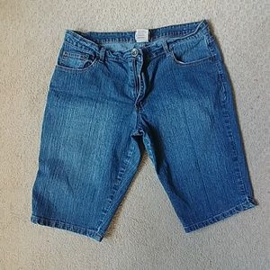 Elite Jeans Shorts - Knee Length Jean Shorts